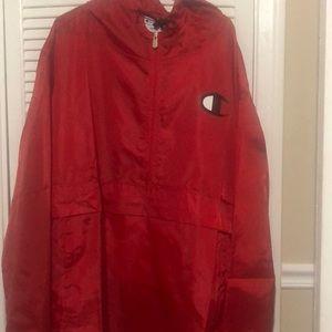 Champion Brand New Red W/Tags Rain Jacket